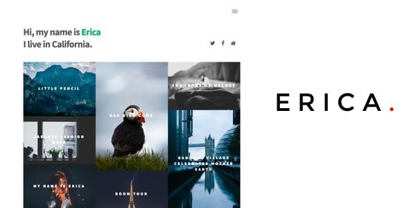 Erica - Masonry Blog Ghost Theme