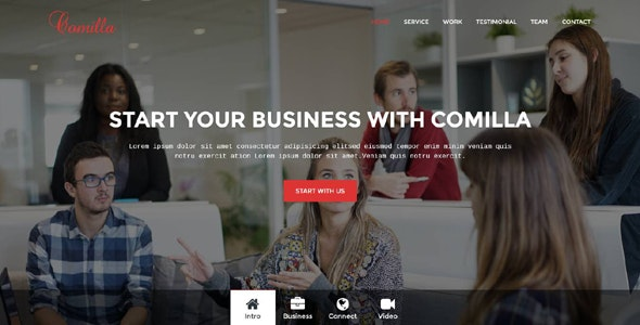 Comilla - Digital Agency One Page Template - Technology Site Templates