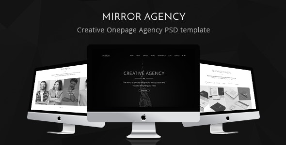 Mirror - Creative Onepage Agency PSD Template - Creative Photoshop