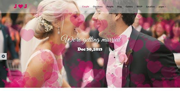 Flying Hearts- Responsive HTML Wedding Template