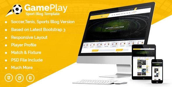 Gameplay Sports Club Blog And Magazine HTML Template - Nonprofit Site Templates