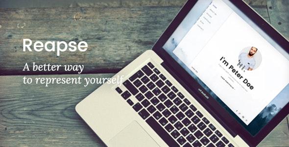 Reapse - Creative vCard / Resume / CV Template - Virtual Business Card Personal