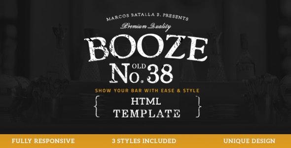 Booze - Pub HTML Template - Restaurants & Cafes Entertainment