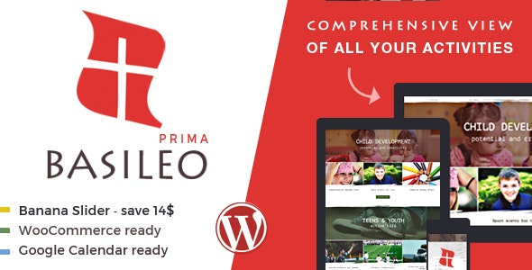 Basileo Prima • Modern WordPress Theme For Church Or Charity - Churches Nonprofit