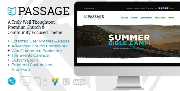 Passage - Church, Sermons, Donations & Events Management - Churches Nonprofit