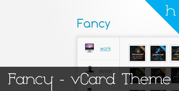 Fancy -  Professional vCard Theme - Virtual Business Card Personal