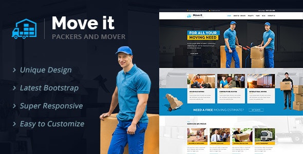 MoveIt - Movers, Relocation, Transportation Company WordPress Theme - Business Corporate