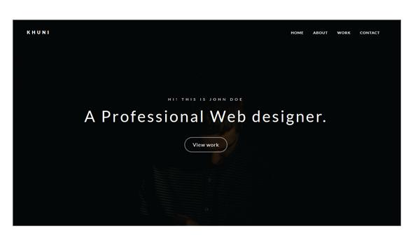 Khuni - Personal Portfolio Template - Personal Site Templates
