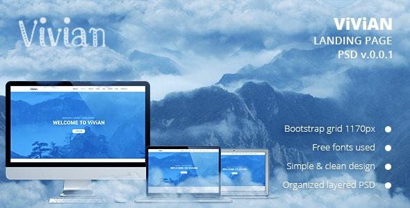 Vivian - Landing Page PSD Template - Creative Photoshop