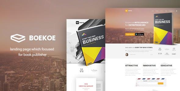 Boekoe - Book Landing Page