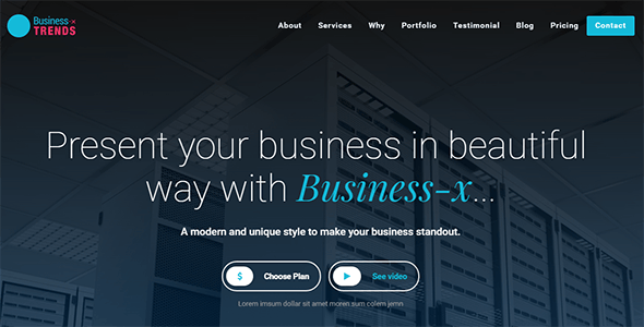 Business-x: Business Landing Page