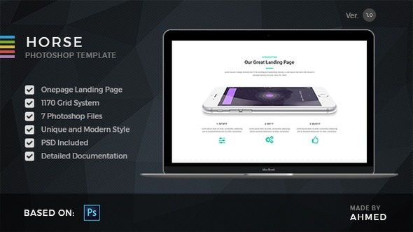 Horse App - PSD Template - PSD Templates