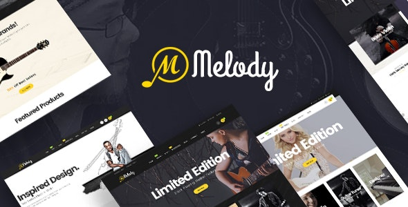 Melody - WordPress Theme for Musical Instruments - WooCommerce eCommerce