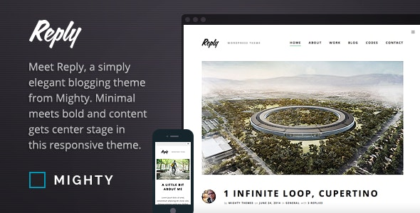 Reply WordPress Theme - Personal Blog / Magazine