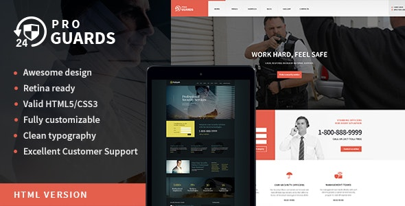 ProGuards | Safety & Security Site Template - Business Corporate