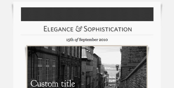 Elegance - HTML Email Template