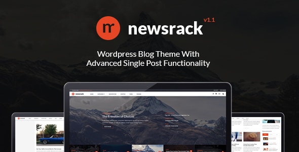 Newsrack - Responsive WordPress Blog Theme With Infinitive Load - Blog / Magazine WordPress