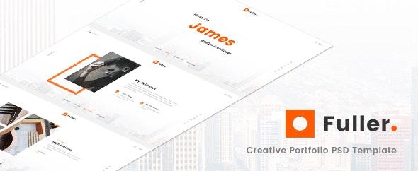 Fuller - Creative Portfolio, Resume & Agency PSD Template - Portfolio Creative