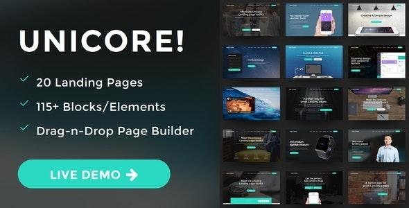 Unicore - WordPress Bootstrap Landing Page Theme - Marketing Corporate