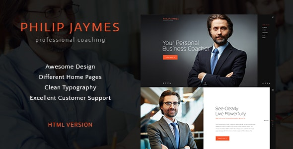 PJ | Life & Business Coaching Site Template - Business Corporate