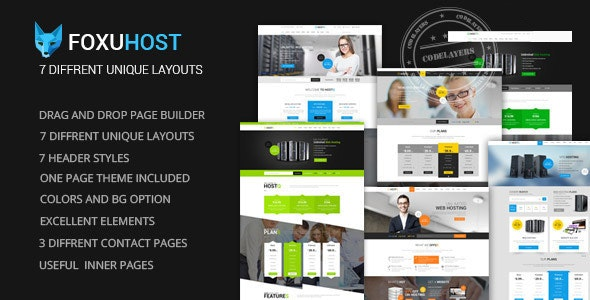 FoxuhHost - Web Hosting WordPress Theme - Hosting Technology
