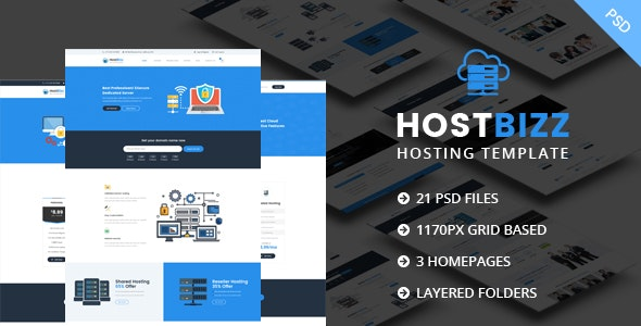 HostBizz-Hosting PSD template - Hosting Technology