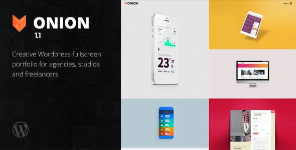Onion - Responsive and Creative WordPress Portfolio Theme for Freelancers, Studios and Agencies