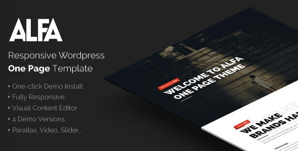Alfa - Responsive Parallax & Retina Ready WordPress Theme for Freelancers, Studios and Agencies - Creative WordPress