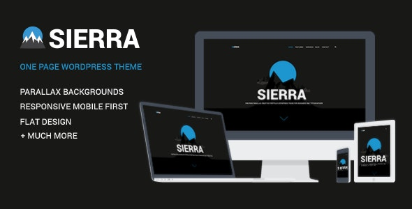 Sierra - One Page Parallax Portfolio WordPress Theme for Freelancer, Creative, Magazine Websites - Creative WordPress
