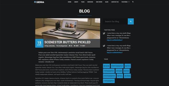 Sierra - One Page Parallax Portfolio WordPress Theme for Freelancer, Creative, Magazine Websites