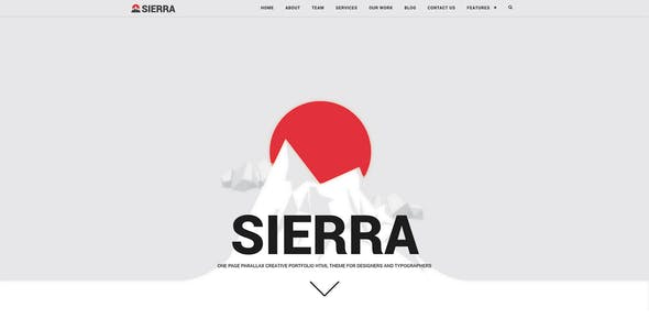 Sierra - One Page Parallax Responsive HTML theme