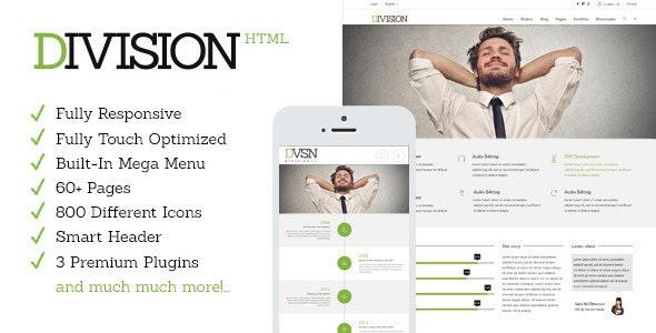 Division - Responsive HTML Multi-Purpose Theme - Corporate Site Templates