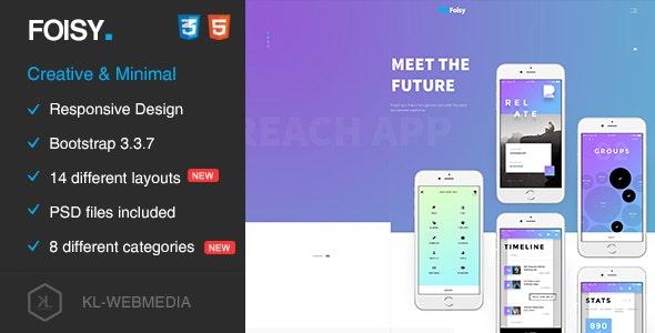 Foisy - Creative & Minimal HTML5 Template - Portfolio Creative