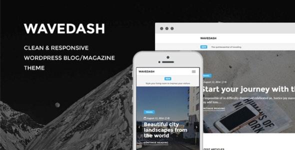 Wavedash - Clean Lifestyle Blog & Magazine WordPress Theme - Blog / Magazine WordPress