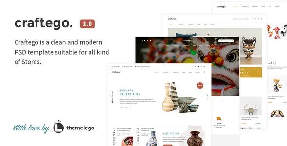 Craftego - Multiconcept Store | PSD Template - Portfolio Creative