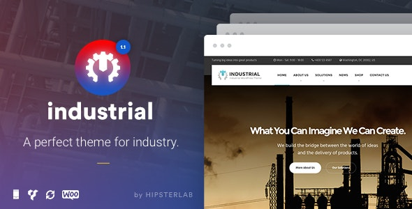 Industrial - Business, Industry WordPress Theme - Business Corporate
