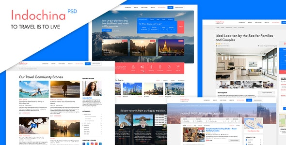 Indochina Travel PSD Template - Retail PSD Templates