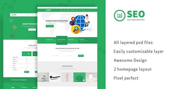 SEO PRO - Search Engine Optimization & Marketing PSD Template - Marketing Corporate