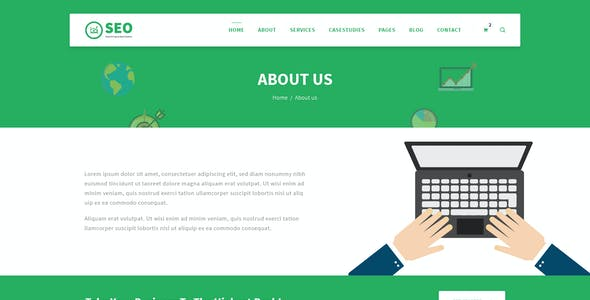 SEO PRO - Search Engine Optimization & Marketing PSD Template