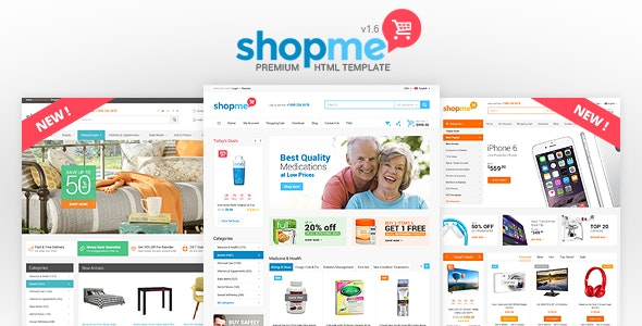 ShopMe - Ecommerce Multipurpose HTML Template - Retail Site Templates