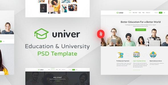 Univer - Multipurpose Education & University PSD Template - Corporate Photoshop