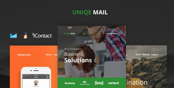 Uniqe Mail - Responsive Email set + Online Access - Email Templates Marketing