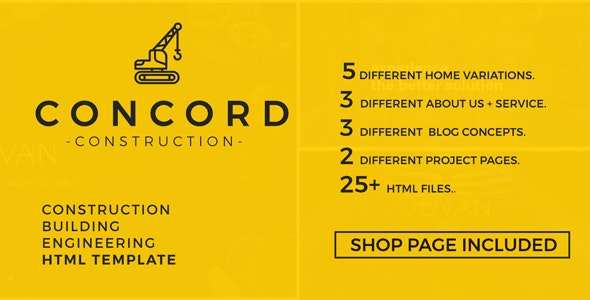 Concord - Construction and Building Website Template - Business Corporate