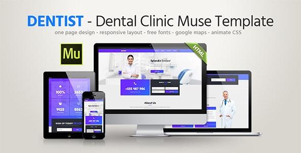 Dentist - Dental Clinic Template - Landing Muse Templates