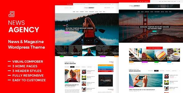 NewsAgency - Magazine Newspaper - News / Editorial Blog / Magazine
