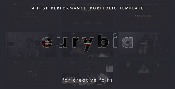 Eurybia - Creative Portfolio HTML Template - Creative Site Templates
