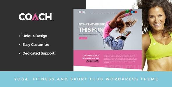 Coach - Sport & Fitness WordPress Theme - Health & Beauty Retail