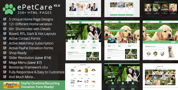 ePetCare - Pet Sitter by ThemeMascot