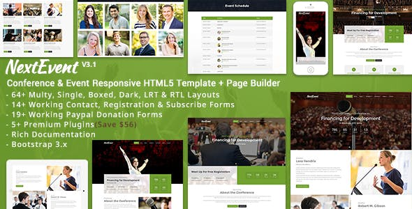 Next Event HTML