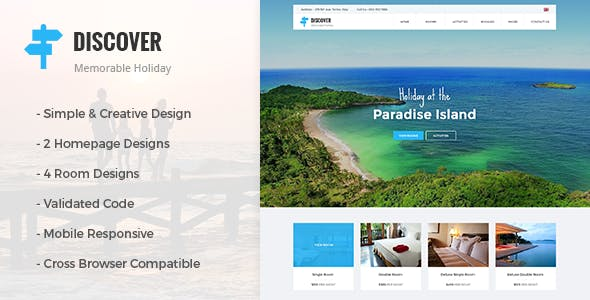 DISCOVER - Beach, Forest, Countryside Hotel & Resort HTML Template